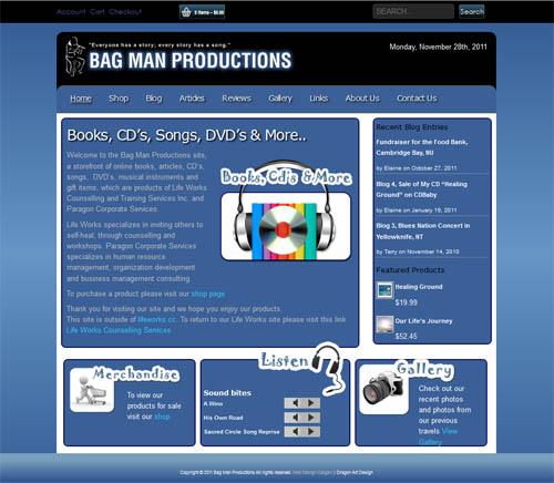 The Bag man Website