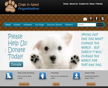 dogs-in-need-organization-website-design