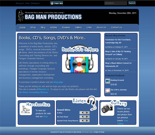 The Bag man Website